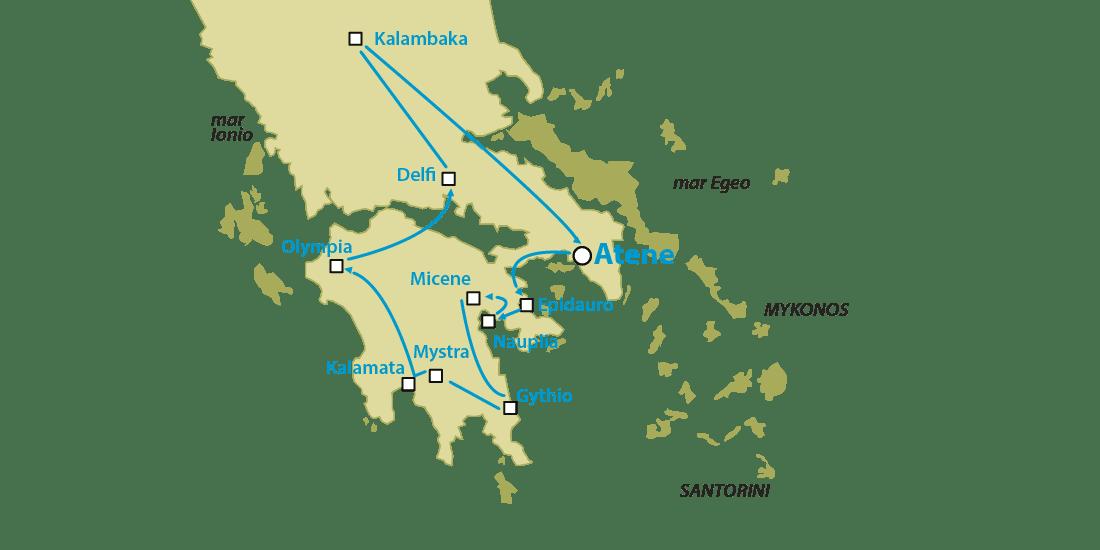 Tour Grecia Classica con Mystra e Meteore
