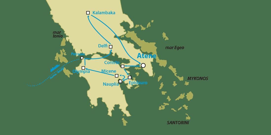 tour grecia classica da Patrasso