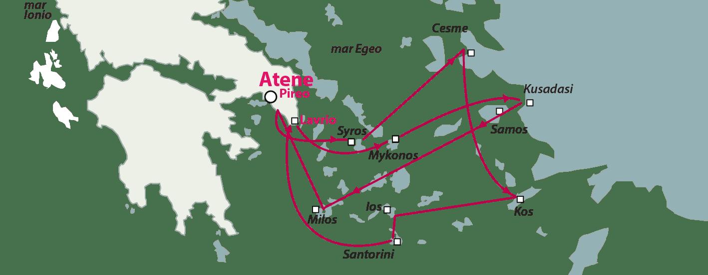 Crociera isole greche Egeo Idilliaco 7 isole