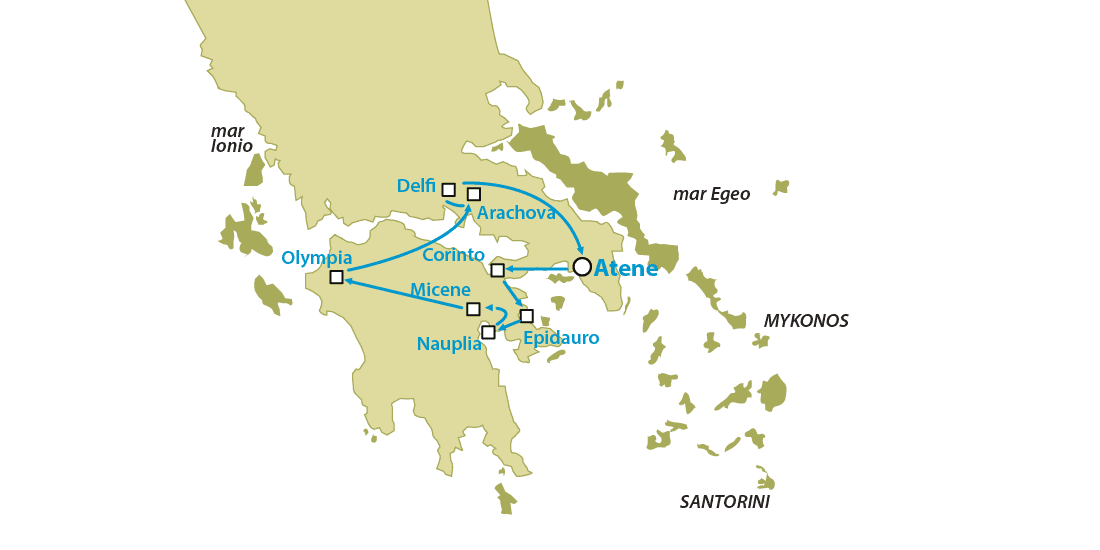 Tour Grecia Classica Nauplia Micene Olympia 3 giorni