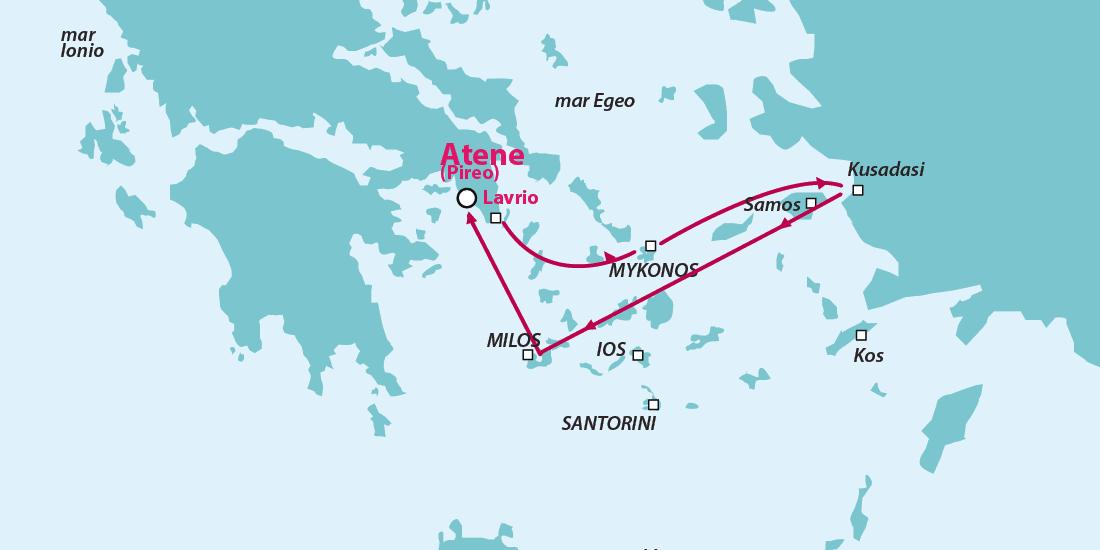 Crociera isole Greche Mykonos Samos Kusadasi Milos