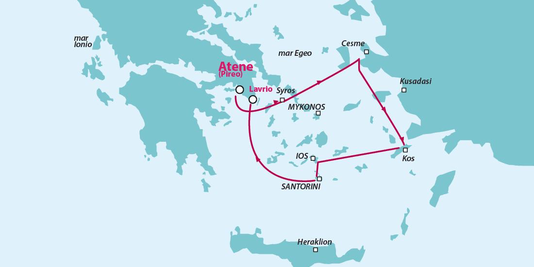 crociera santorini isole greche