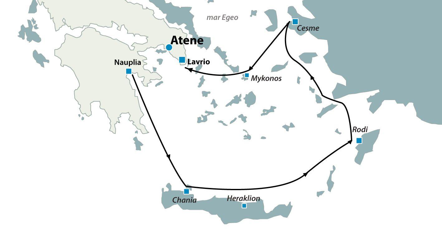 Crociera isole greche Egeo Euforico Creta Rodi Mykonos