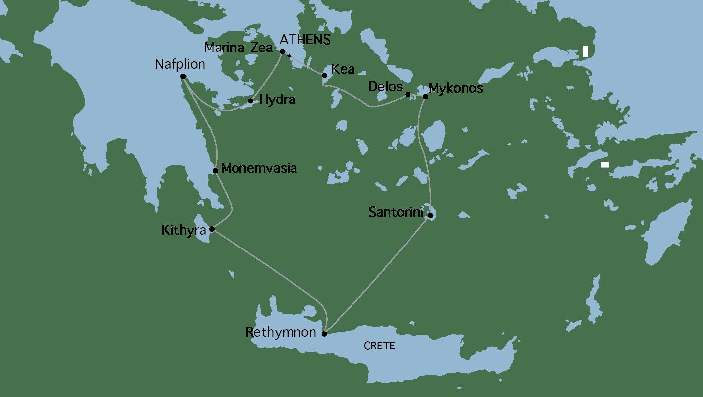 Crociera Grecia Classica Variety Cruises isole greche in yacht
