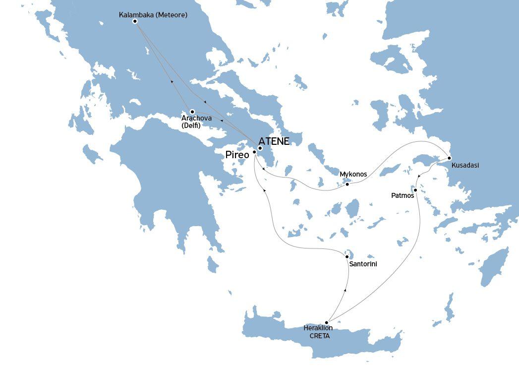 Pasqua minitour Delfi e Meteore e crociera Egeo Iconico 3 notti